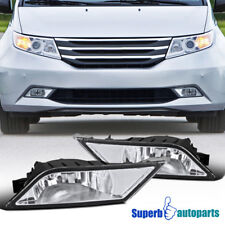 For 2011-2013 Honda Odyssey Replacement Bumper Fog Lights Driving Lamps+Switch