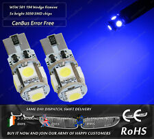 W5W T10 Wedge CanBus LED SMD Blue Front Side Lights Parking Bulbs Sidelights 12v