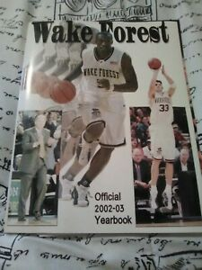 2002-2003 BASKETBALL HANDBOOK YEARBOOK--WAKE FOREST