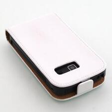 Samsung Galaxy Y Duos s6102 Bianco Flip Case Custodia per Cellulare Guscio Protettivo Cover Astuccio