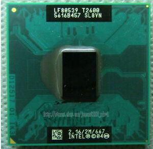 Intel Core Duo T2600 2.16 GHz Dual-Core SL9JN SL8VN Notebook processor