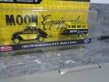 M2 MOONEYES VW BUG AND TRAILER CHASE PIECE SET   1.64 M2 MACHINES