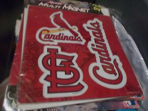 St Louis Cardinals Sports Multi Magnet set of 3