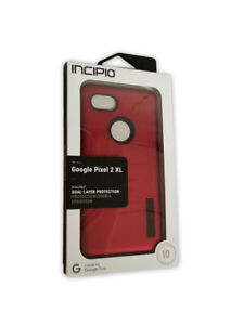Incipio DualPro Shock-Absorbing Case for Google Pixel 2 XL -Iridescent Red/Black