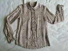 Paul & Joe Sister Women's Pale Pink Sheep Frill Shirt Size 0 Good Used Condition