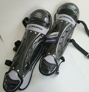 Champro Catchers Baseball Youth Leg Guards Black CG05 New With Tags