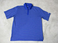 Under Armour Polo Shirt Adult Extra Large Blue White Striped Casual Goler Mens *