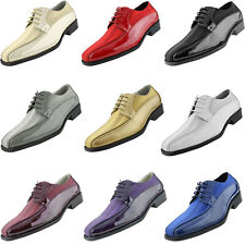 Amali Satin Striped Formal Wedding Lace Up Oxford Dress Shoes w 6+ Colors avail