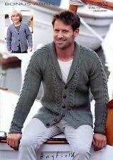 Hamilton Aran su misura tradizionale Mans Cardigan HAND Knitted