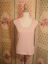 black line  soft pastel pink knit jumper top STRETCHY