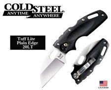 """Cold Steel 3.5"""" Folding Knife Tuff Lite Plain AUS-8A Steel TRI-AD Lock 20LT"""