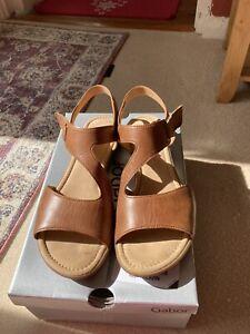 Gabor Tan Leather 6.5 Sandal