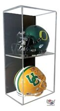 ACRYLIC WALL MOUNT FOOTBALL Double Mini Helmet DISPLAY CASE UV HOLDER A