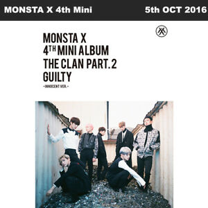 MONSTA X THE CLAN 2.5 PART.2 GUILTY 4th Mini Album INNOCENT Ver CD+Booklet+Etc