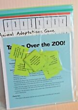 """Animal Adaptations Game """"Taking Over the Zoo"""" Science Activity Grades 2-5 New"""