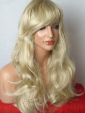 Blonde fashion Wig long curly party full lady ladies hair wig ash blonde C22