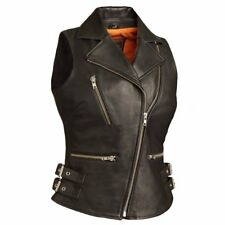 FIRST MANUFACTURING LADIES SEXY GODDESS BLACK LEATHER VEST SIZE XL