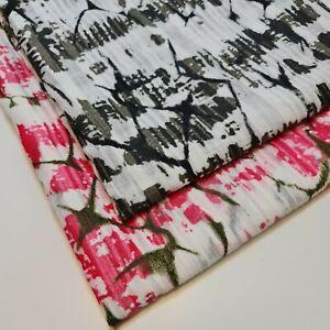 "100% Cotton Organdy PRINT Stripe Dress Stiff Curatin Craft Fabric 58"" By Meter"