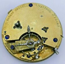 Unusual Robert Roskell Liverpool Fusee Pocket Watch Movement - Ticking (P70*)