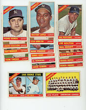 (18) Different 1966 Topps New York Yankees Cards  $99.00 BV High