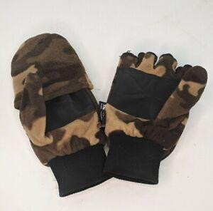 ATHLETECH Fingerless Gloves w/Cover Mittens 40Gram 3M Thinsulate Size Med-Large