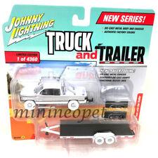 JOHNNY LIGHTNING JLCP7085 A 1996 DODGE RAM & CAR FLATBED TRAILER 1/64 Chase