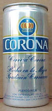 CORONA CERVEZA 10oz empty Pull Tab Beer CAN w/ a KING'S CROWN, PUERTO RICO, gd1+