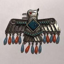 Vintage 70s CAPRI Thunderbird Eagle Native American Indian Phoenix Pin Brooch