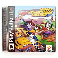 Woody Woodpecker Racing (Sony PlayStation 1, 2000) Complete Tested & Works