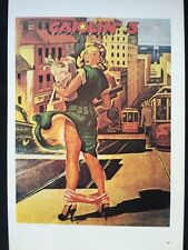 Gasoline 3 & Brian Eno Talking Tiger - 2 sided Vintage Rock 70's Poster 15x10 65