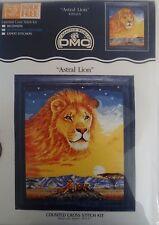 "DMC ""Astral Lion"" Counted Cross Stitch Animal #K3652 US Serengeti New"