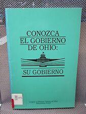 CONOZCA EL GOBIERNO DE OHIO Government Education 1996