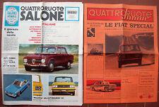 1968 LOTTO DI DUE RIVISTE- GIORNALI ILLUSTRATE 'QUATTRORUOTE JUNIOR' e 'SALONE''