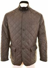 POLO RALPH LAUREN Mens Quilted Jacket Size 42 XL Brown Polyester  LV04