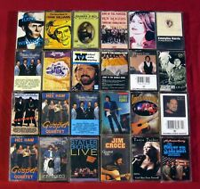 24 Country Cassette LOT Johnny Cash WILLIE NELSON Hank Williams STATLER BROTHERS