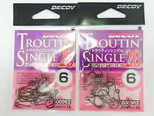 Single 28 TROUTIN Plugging Lure Hook Size 6 (8962) Decoy