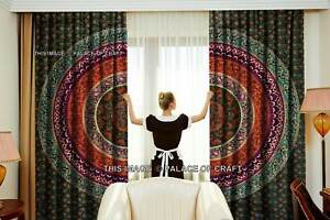 Indian Mandala Cotton Curtain Hippie Door Cutains Decor Window Curtains Tapestry