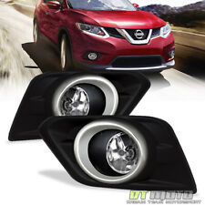 For 2014 2015 2016 Rogue [Glass] Bumper Driving  Fog Lights w/Switch Replacement
