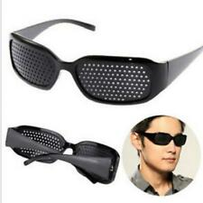 Black Vision Care Eyeglasses Pin Hole Pinhole Glasses Eye Unisex Exercise SG