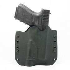 OWB Kydex Light Bearing Holster for TLR-1 - 50 Different Gun Models - Black