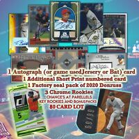 AUTOGRAPHED/Game used Relic Baseball Card and Factory sealed pack 80+ Card Lot