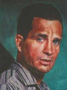 JACK KEROUAC 50TH  ANNIVERSARY PORTRAIT POSTCARD SIGNED BY THE ARTIST