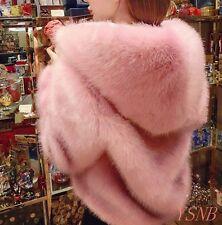 New Fashion Women Fur Coat Faux Fur Short Winter Warm Hooded Trench Jacket
