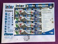 """SAN MARINO 2010 FDC  INTER 3 VOLTE CAMPIONE FOGLIETTO """"IL TRIPLETE"""""""