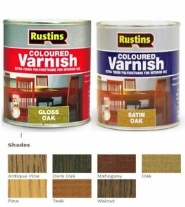 Rustins Polyurethane Coloured Varnish Satin / Gloss All Colours All Sizes