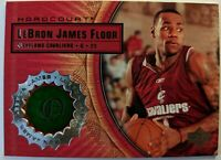 2003 03-04 Upper Deck Hardcourt LeBron James Rookie RC, Game Used Floor #LB5