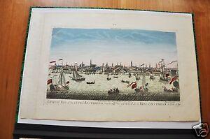 AMSTERDAM. VU GENERALE LA CITTÀ D' AMSTERDAM (GUARDA)OTTICO FINE XVIII).