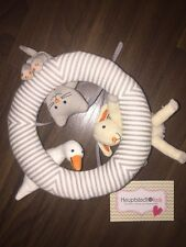 Ikea Leka Mobile Plüschtier Ring Katze  Grau Weiß Schaf Gans Bett Baby Hängt