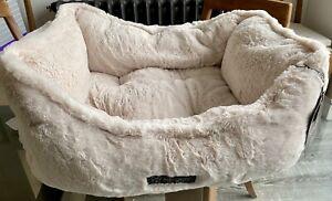 Nandog Pet Gear Cream Faux Fur Dog Bed