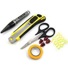Yeah Racing Body Mounting Kit W/ Reamer, Scissors, Tape, Knife, & More YT-0123